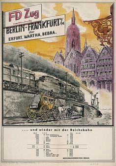 Berlin-Frankfurt am Main im FD-Zug Werbung 1949