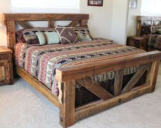 25 DIY Wooden Bed Frame Design Ideas With Rustic Styles