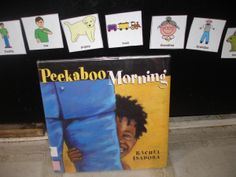 Free printable PECs sequencing activity to go with the book Peekaboo Morning by Rachel Isadora