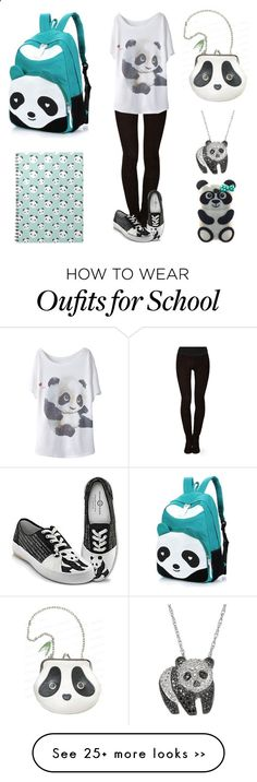 Back to school--Panda Lovers by broadwaybaby16 on Polyvore