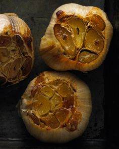 Roasted Garlic I slather it on slices of baguette with melted Brie...nothing like it until you go to kiss your hubby...