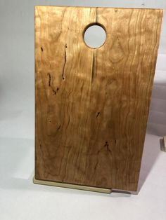An absolutely gorgeous serving or chopping board made from curly cherry, look how the grain pops! Will make a fine addition to any kitchen or party. Charcuterie Board, Absolutely Gorgeous, Bamboo Cutting Board, Cherry, How To Make, Handmade, Homes, Etsy, Dinner