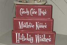 Crafting with Clarissa Christmas Pallet Signs, Christmas Blocks, Christmas Wood Crafts, Holiday Signs, Holiday Wishes, Christmas Items, Holiday Crafts, Holiday Fun, Christmas Crafts