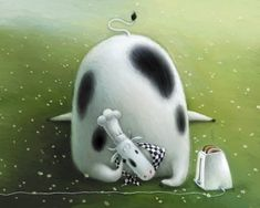 Funny Animals By Pictures illustrator Rob Scotton [Pics] Splat Le Chat, Cows Mooing, Cartoon Cow, Cow Art, Cute Monsters, Children's Book Illustration, Book Illustrations, Figure Painting, Funny Animals