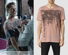 Limitless: Season 1 Episode 2 Brian's Dusty Pink Graphic T-Shirt