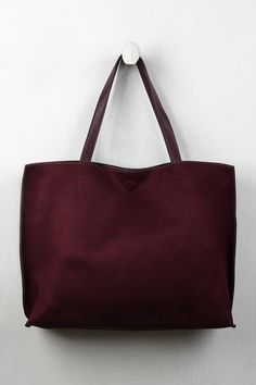 Reversible Suede And Leather Tote Bag
