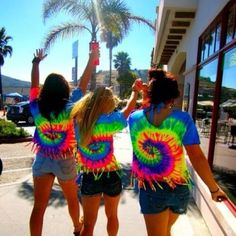 Tye dye the shirts like this and cute them like this too!! :D