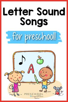 Letter sound songs are an awesome way to teach the sounds of letters! Plus, we've included information about some common letter sound mistakes so you can be confident you're teaching them accurately. Alphabet letter sound songs like these make the process super fun! These are great beginning phonics songs. Space Songs For Kids, Kids Songs, Preschool Writing, Preschool Songs, Preschool Alphabet, Teaching Letter Sounds, Teaching Letters, Letter Sound Song, Transition Songs