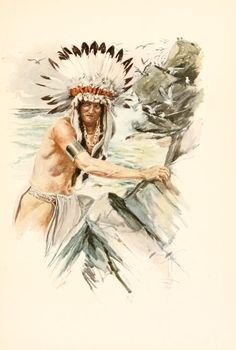 hiawatha s childhood illustration by maria louise kirk for the the song of hiawatha