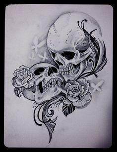 """Tradicionalmente, los tatuajes (tattoo) de calaveras mexicanas han simbolizado la muerte con una """"M"""" mayúscula, ¡pero no de una manera siniestra o negativa! Si hay un hecho innegable en este planeta, es que ningún ser humano escapa de la Parca, por rico o famoso que sea.! Ehe Tattoo, Tattoo Tod, Death Tattoo, Hand Tattoos, Skull Rose Tattoos, Body Art Tattoos, Garter Tattoos, Rosary Tattoos, Bracelet Tattoos"""