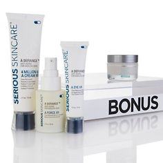 Serious Skincare Age Defy Trio with Bonus Pure-Pep Riche - AutoShip at HSN.com.