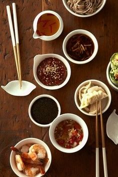 Let's Get Sauced - Dumplings, potstickers, spring rolls—it's the dipping sauce that takes them from seductive to addictive. Quick Recipes, Sauce Recipes, Asian Recipes, Cooking Recipes, Indonesian Recipes, Orange Recipes, Cooking Tips, Dips, Dipping Sauces