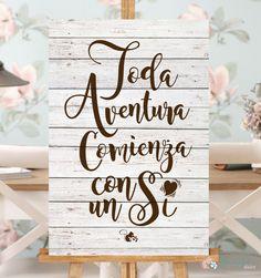 Afiche Playa de arena Amor votos Personalizado Boda Cartel