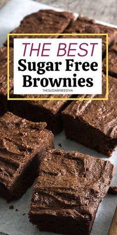 Sugar Free Deserts, Low Sugar Desserts, Sugar Free Sweets, Low Sugar Recipes, Splenda Recipes, Healthy Desserts, Easy Desserts, Healthy Foods, Delicious Desserts