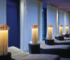 Luxury spa at la Reserve Hotel in Geneva, a five star hoyel by architect Jacques Garcia _