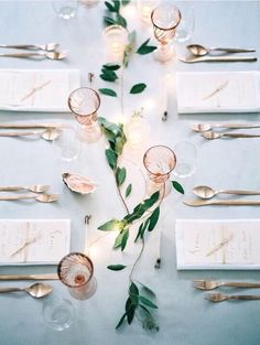 Wire fairylights through foliage- table runner