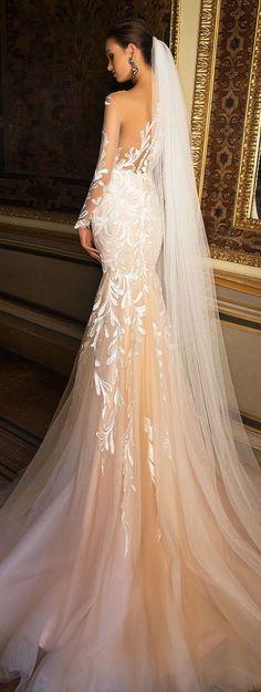 Featured Dress: MillaNova; www.millanova.com; Wedding dress idea.