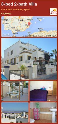 3-bed 2-bath Villa in Los Altos, Alicante, Spain ►€109,990 #PropertyForSaleInSpain