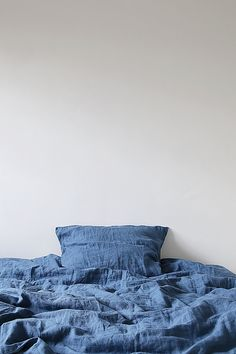 Linen Duvet and Pillowcase, Single, Twin, Double, Queen or King in Scandinavian Blue