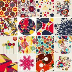 colorful floral elements vector