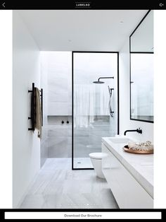 Put the shower handles on the other side so you can adjust the temperature before you get in.