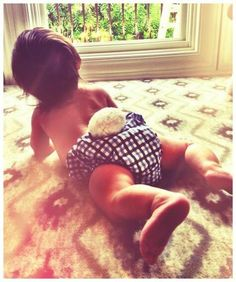 How cute! Vanessa Lachey dressed up her son, Camden, in a bunny diaper to celebrate Easter.