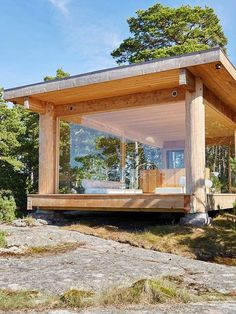 "A chapel on the island of Kemiö: ""Here we have everything we have always dreamed of"" Design stories Tiny House Cabin, Tiny House Design, Modern House Design, My House, Cabin Design, Balkon Design, Casas Containers, Backyard, Patio"