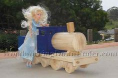 Wooden Toy Train easy build for beginners with limited tools. Free plans from WoodworkingDownUnder.com