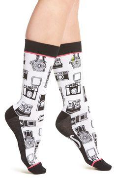 Main Image - Woven Pear Oh Snap Crew Socks