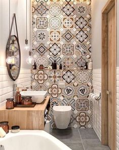 Small Master Bathroom Decor on a Budget www. Small Master Bathroom Decor on a Budget www.onechitecture… Small Master Bathroom Decor on a Budget www. Diy Bathroom Decor, Bathroom Colors, Bathroom Interior, Bathroom Ideas, Colorful Bathroom, Bathroom Makeovers, Design Bathroom, Bathroom Remodeling, Budget Bathroom