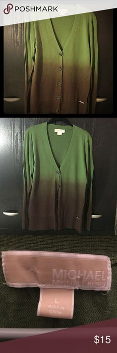 Michael Kors Ombre Sweater ; Green & Brown LARGE Pre-owned in VERY good condition  Smoke & pet free home  No flaws 😊❤️ Perfect for fall🍁 Michael Kors Sweaters Cardigans