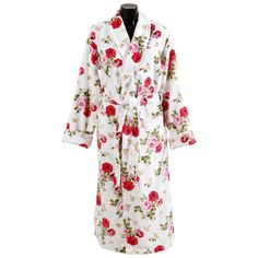 Discover the Cath Kidston Antique Rose Bouquet Bathrobe - White - Adult at Amara