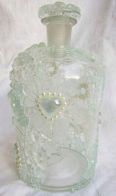 Ice Crystals - Mosaic Bottle by Waschbear - Frances Green, via Flickr