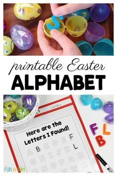 Love this simple Easter alphabet activity for the preschoolers! Grab the free printable some magnetic letters and plastic Easter eggs and go. Easter Activities For Preschool, Preschool Centers, Preschool Lesson Plans, Preschool Learning Activities, Free Preschool, Alphabet Activities, Preschool Printables, Preschool Spanish, Easter Games