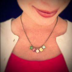 mother's necklace from vintage swarovski... pretty!