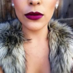For a similar look try Clove + Hallow lip velvet in Napa