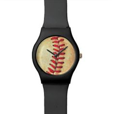 Vintage baseball ball wrist watches