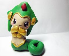 Chibi Cassiopeia figure League of Legends-polymer clay hand scupted hand painted kawaii Chibi