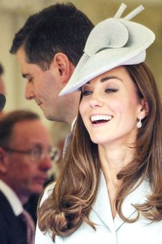 Kate's hat is by Lock  Co. The Sweet Delight style is 100% woven straw and retails for £875.  Order of the Garter 2014.