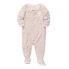 Carter's® Leopard Microfleece Footed Pajamas - Girls 12m-24m - jcpenney