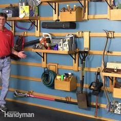The Family Handyman editor, Travis Larson, will show you the features that make this garage storage system truly adaptable and unique. With this system you will be able to change it up to store all your stuff easily.