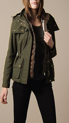 Canvas Parka With Warmer   Burberry