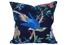 Chinoiserie Linen Bird Pillow on OneKingsLane.com