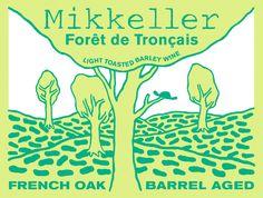 Mikkeller. Forêt de Tronçais. Light toasted Barley Wine.