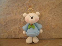 *POLYMER CLAY ~ Polar Bear Christmas Ornament.