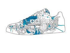 Adidas by Joshua Davis, via Behance