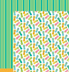 American Crafts - Pebbles - Party with Amy Locurto - 12 x 12 Double Sided Paper - WaterFun at Scrapbook.com $0.99