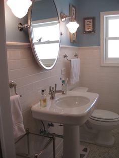Metro tiles in toilet