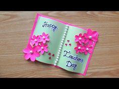 Greetings For Teachers Day, Handmade Teachers Day Cards, Greeting Cards For Teachers, Teachers Day Gifts, Teacher Cards, Greeting Cards Handmade, Diy School Supplies, Teachers' Day, Birthday Cards