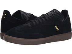 adidas Originals Samba MC Leather Black/Black/Gold Metallic - Zappos.com Free Shipping BOTH Ways